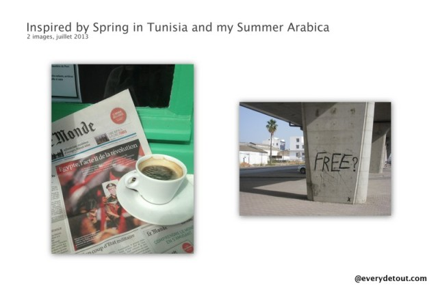 Inspired by Spring in Tunisia and my Summer Arabica