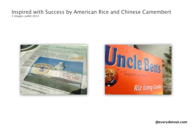 Inspired with Success by American Rice and Chinese Camembert