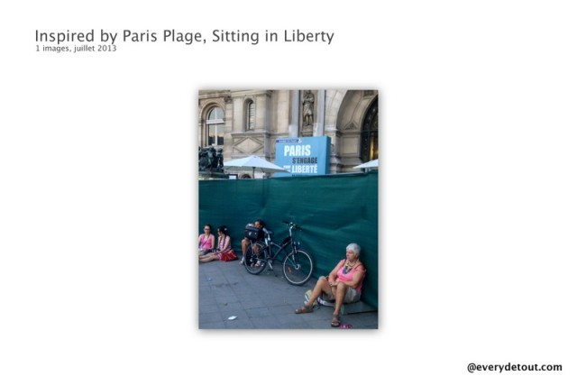 Inspired by Paris Plage, Sitting in Liberty